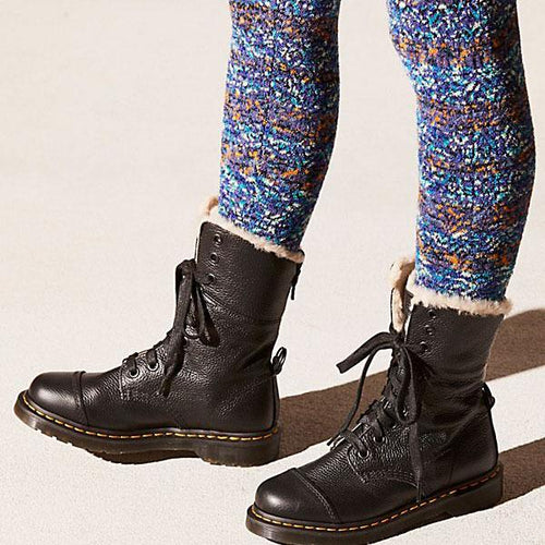 Winter Low Heel Strappy Round Head Floss Padded Keep Warm Boots