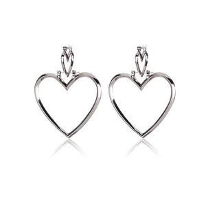 Fashion Chic Contracted Hollow Heart Versatile Earrings