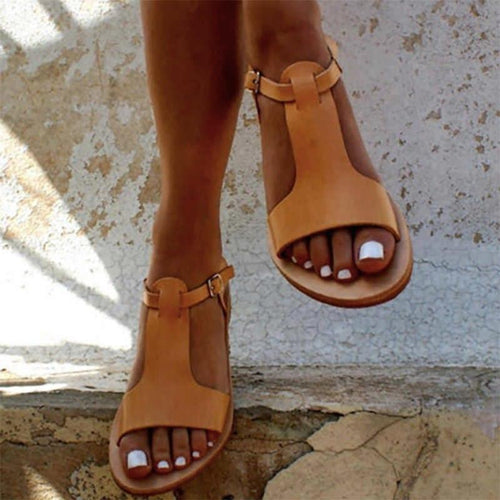 Leather Sandals Natural Color Leather Shoes