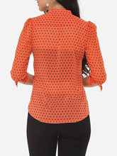 Load image into Gallery viewer, Polka Dot Extraordinary V Neck Blouse