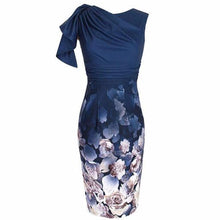Load image into Gallery viewer, Pleated Captivating Floral Printed Bodycon Dress