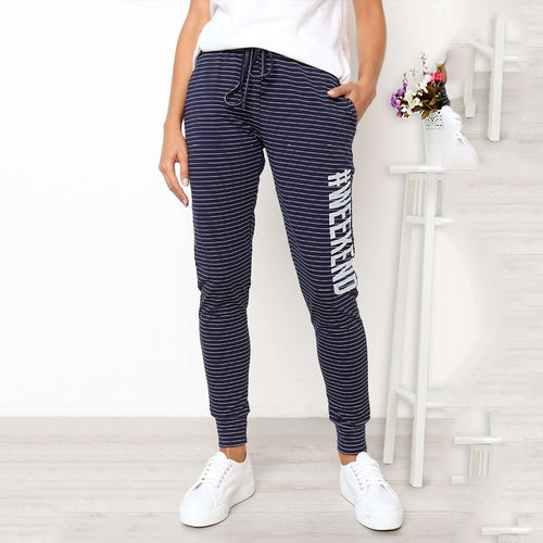 Fashion Striped Printed Casual Pants