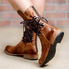 Load image into Gallery viewer, Fashion Rivet Low Square Heel Chivalry Boots