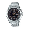 Casio Enticer Analog Black Dial Men's Watch - MTP-E205D-1AVDF
