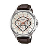 Casio Enticer Analog White Dial Men's Watch - MTP-E303L-7AVDF
