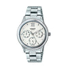 Casio Enticer Analog White Dial Women's Watch - LTP-E306D-7AVDF