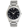 Emporio Armani Valente Black Dial Men's Watch