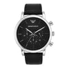 Emporio Armani Luigi Black Dial Men's Watch - AR1828
