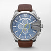 Diesel Mega Chief Blue Dial Men's Watch - DZ4281