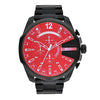 Diesel Mega Chief Black Dial Men's Watch - DZ4318