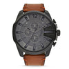 Diesel Mega Chief Grey Dial Men's Watch - DZ4463