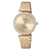 Citizen Gold Dial Women's Watch - ER0213-57X