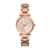 Fossil Carlie Rose Gold Dial Women's Watch - ES4301