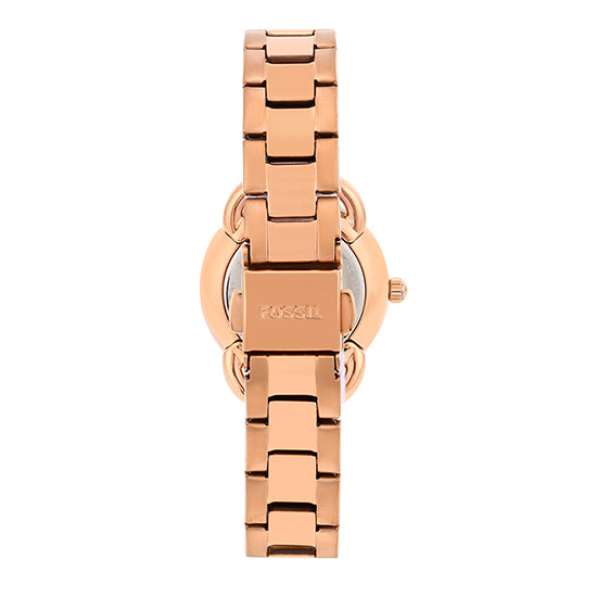Fossil Tailor Mini Rose Gold Dial Women's Watch