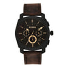 Fossil Machine Black Dial Men's Watch