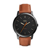 Fossil The Minimalist 3H Black Dial Men's Watch - FS5305