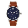 Fossil The Commuter 3H Date Blue Dial Men's Watch