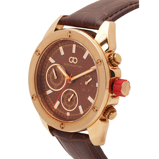 Gio Collection Brown Dial Men's Watch - G1001-07