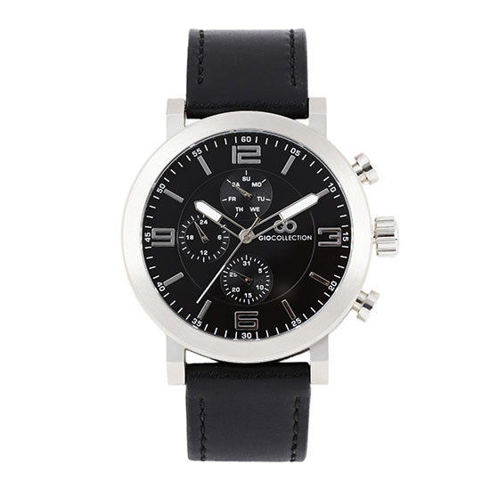 Gio Collection Black Dial Men's Watch - G1012-01