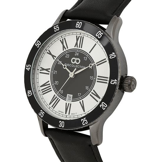 Gio Collection Silver Dial Men's Watch - G1033-04