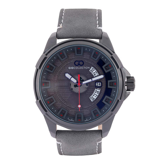 Gio Collection Grey Dial Men's Watch - G1042-02