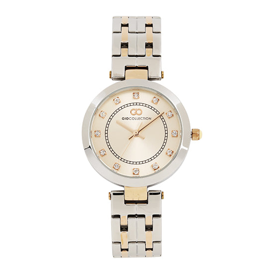 Gio Collection Rose Gold Dial Women's Watch - G2016-11