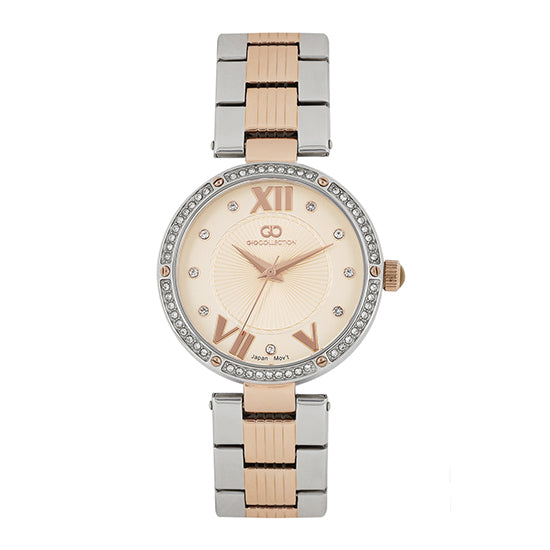 Gio Collection Rose Gold Dial Women's Watch - G2023-33