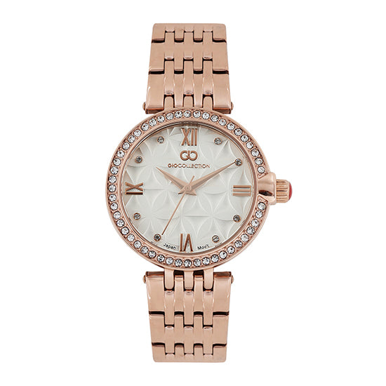Gio Collection Silver Dial Women's Watch - G2025-44