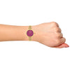 Gio Collection Maroon Dial Women's Watch - G2043-33