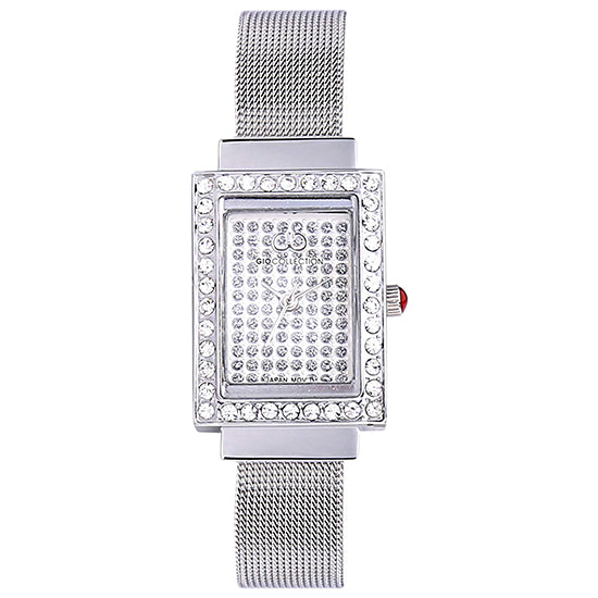 Gio Collection Silver Dial Women's Watch - G2066-11