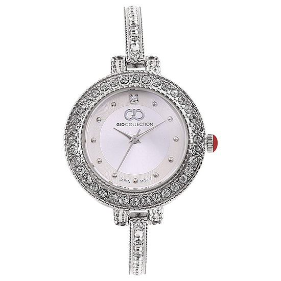 Gio Collection Silver Dial Women's Watch - G2088-11