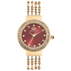 Gio Collection Maroon Dial Women's Watch