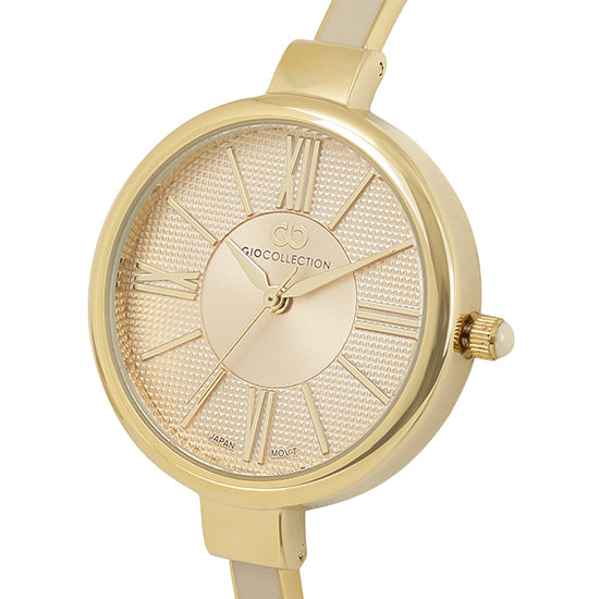 Gio Collection Cream Dial Women's Watch - G2109-22