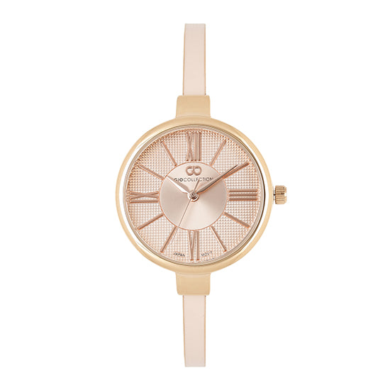 Gio Collection Pink Dial Women's Watch - G2109-44