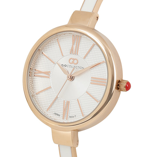 Gio Collection Silver Dial Women's Watch - G2109-55