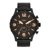 Fossil Nate Black Dial Men's Watch - JR1356