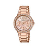 Casio Sheen Golden Dial Women's Watch - SX187