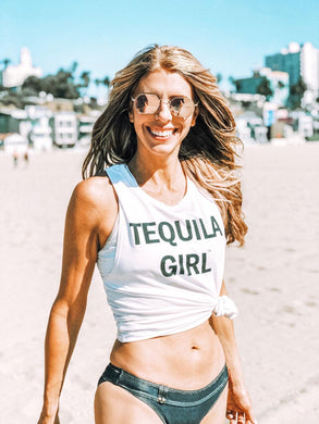 Tequila Girl™ Premium Athletic Wear Tank Top (White)