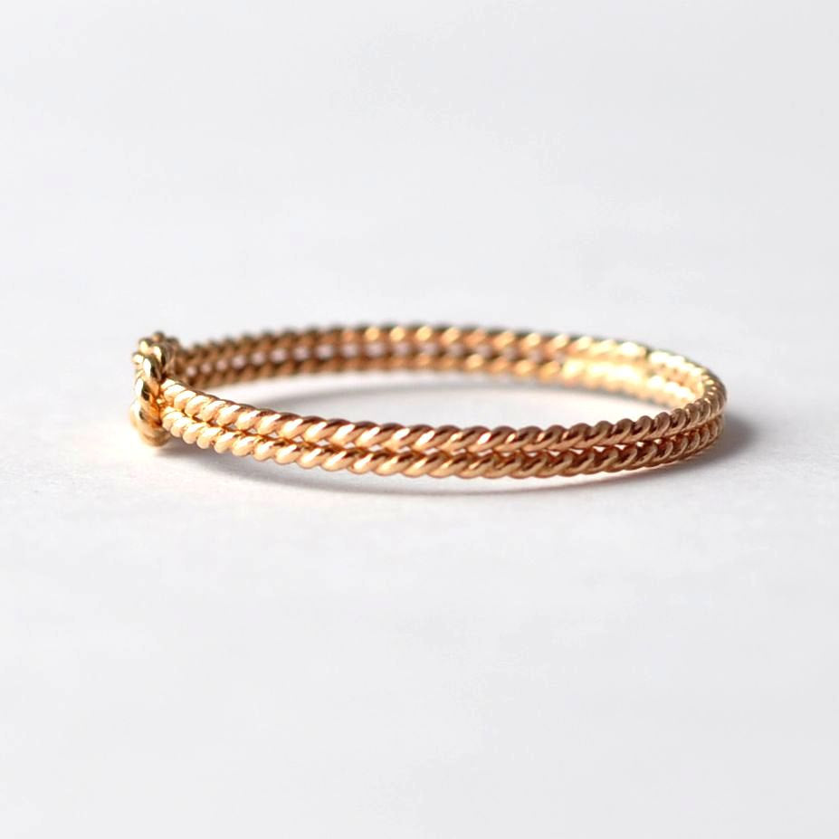 Yellow Gold Filled Twist Knot Promise Ring: Valentines Presents for Wife