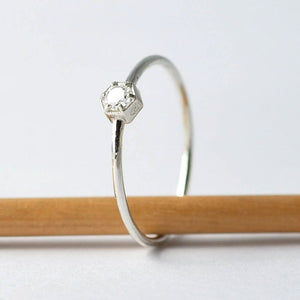 Unique Engagement Ring: Hexagon Diamond, Anniversary Gifts for Wife