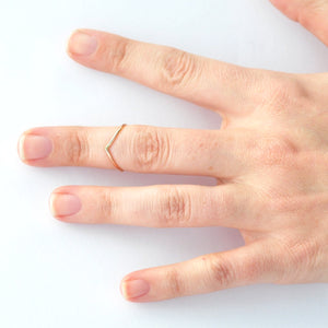 Midi Chevron Ring: Yellow Gold Filled, Valentines Day Gifts