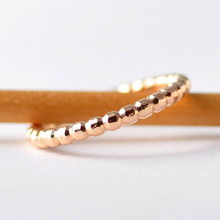 Unique Textured Ring: 14K Yellow Gold, Womens Wedding Rings