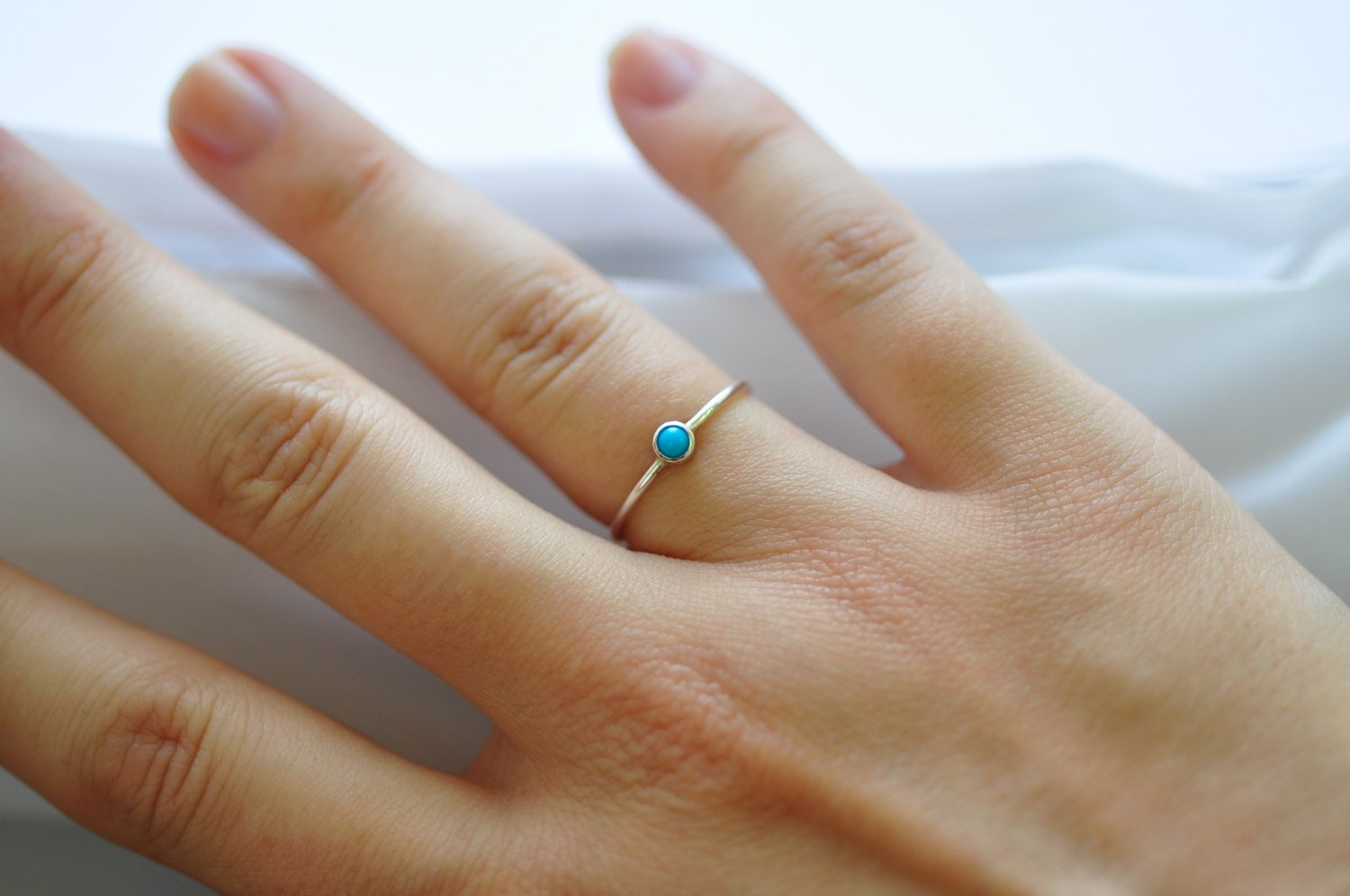 Turquoise Jewelry: Sleeping Beauty Turquoise Silver Rings, Affordable Valentines Gifts