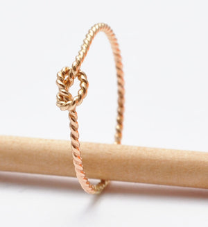 Tie the Knot Ring: Gold Twisted Knot Band, Affordable Valentines Gifts