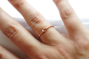 Rose Gold Knot Ring: BFF Friendship Ring, Valentines Day Gifts
