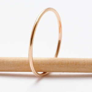 Gold Stacking Ring: Simple Thin Band, Minimalist Jewelry