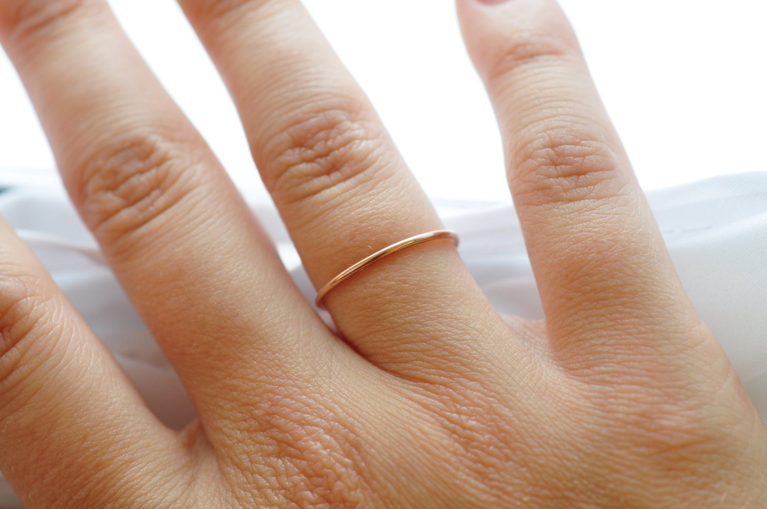 Rose Gold Stacking Rings: Minimalist Jewelry, Gifts for Friends