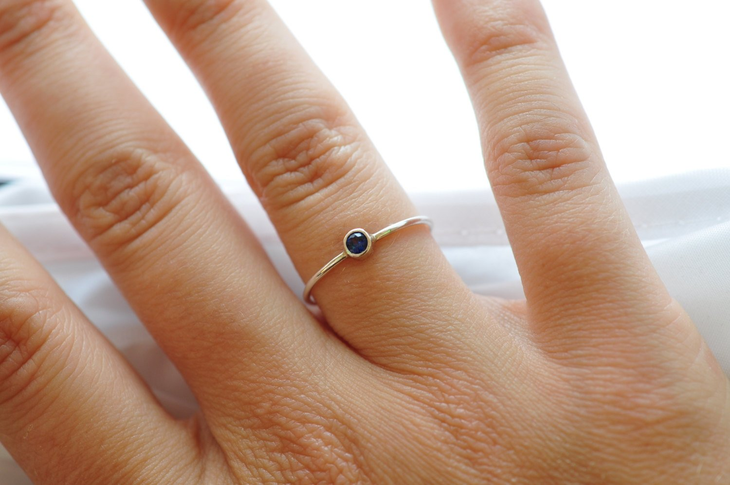 Blue Sapphire Ring: Sterling Silver Gemstone Jewelry