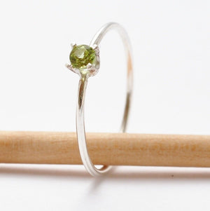 Peridot Ring: Silver Peridot Jewelry, Valentines Day Gifts for Women