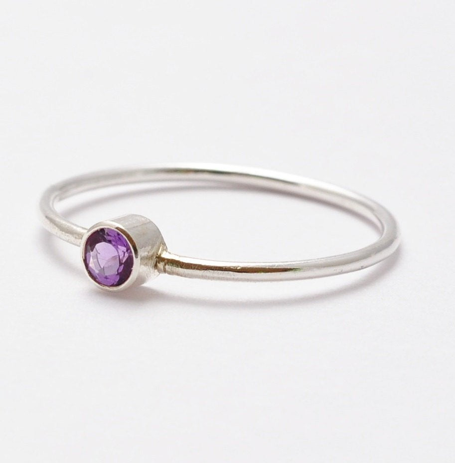 Amethyst Rings: Simple Silver & Amethyst, Best Valentines Gifts for Her